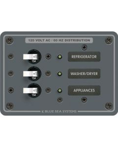 Blue Sea 120V AC Branch A-Series Toggle Circuit Breaker Panels
