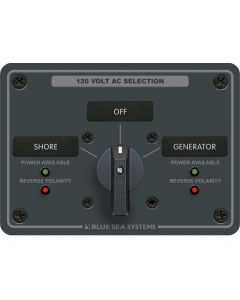 Blue Sea AC Source Selection Rotary Switch Panels