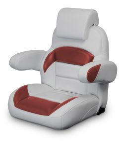 Lexington Low Back Reclining Helm Seat with Arms & Headrest