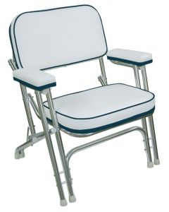 Wise Folding Deck Chairs with Aluminum Frame