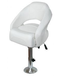 Wise Premium Limited Helm Bucket Seat with Pedestal & Slides with Flip Up Bolster
