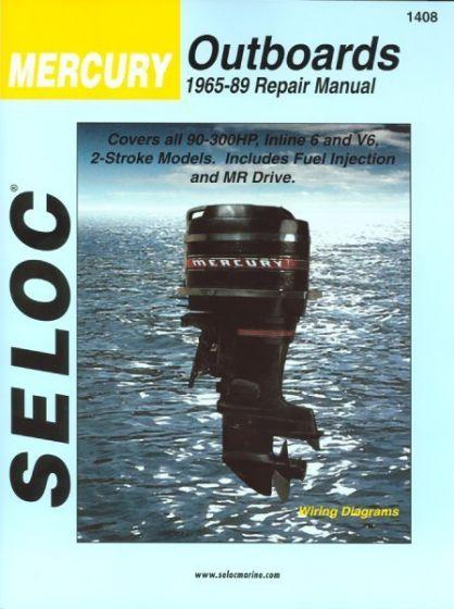 seloc mercury outboard only 90 300hp 1965 1989 repair manual inline rh iboats com 1989 40 hp mercury outboard manual 1989 mercury 115 outboard manual