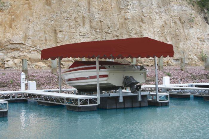 Rush-Co Marine Porta-Dock Boat Lift Canopy Cover for 26\' x 114 ...