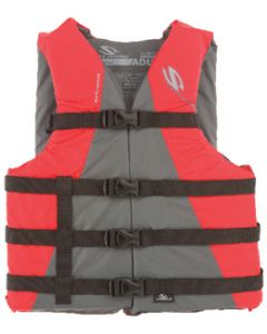 Stearns Watersport Classic Series Nylon Vests, Adult, Red