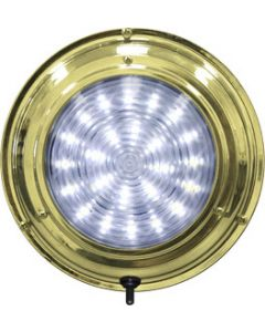 "Seasense LED Titanium Nitrade Dome Boat Light, 6-3/4"", White 24 LED"