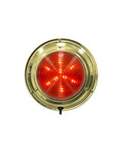 "Seasense LED Titanium Nitrade Dome Boat Light, 5-1/2"", Red/White 18 LED"