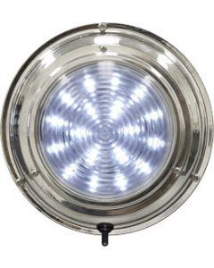 "Seasense LED Stainless Steel Boat Dome Light, 5-1/2"", Cool White 18 LED"
