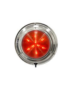 "Seasense LED Stainless Steel Boat Dome Light, 5-1/2"", Red/White 18 LED"