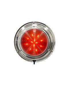 "Seasense LED Stainless Steel Boat Dome Light, 6-3/4"", Red/White 36 LED"