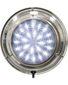 """Seasense LED Stainless Steel Boat Dome Light, 7"""", White 24 LED"""
