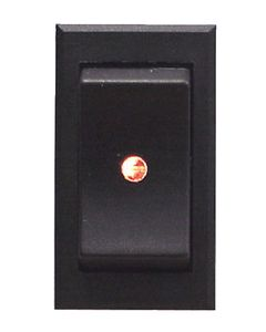 MarineWorks Illuminated Rocker Switch with Soft Spot Light, ON-OFF-SPST