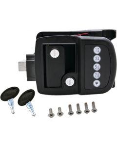 AP Products Black Elect. Trv. Trailer Lock - Bauer Electric Door Lock