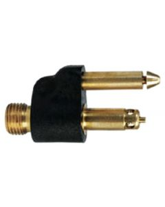 Moeller 1/4 NPT Brass Male Tank Connector, 1998 & Newer Engines, Two Prong Clip Style for Mercury