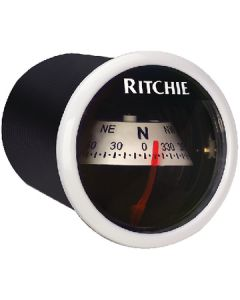Ritchie Sport Dash Mount Compass, White/White
