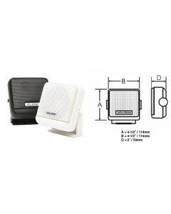 PolyPlanar Vhf Extension Speaker,  4 1/2 X 4 1/2 ,  White