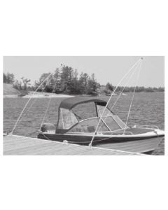 Dock Edge Boat Mooring Whip, 12', LINES&HDW, 40