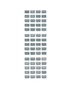 Blue Sea Systems 8217 Gray Small Format Label Kit, 60 Labels