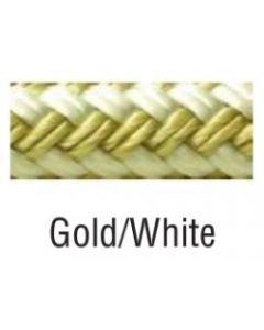 "Seachoice Double Braided Nylon Fender Line, Gold/White, 3/8"" X 6' Fender Lines"