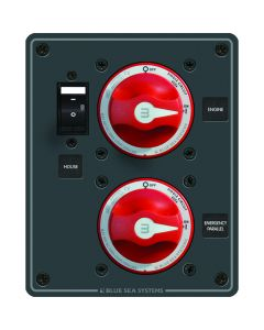 Blue Sea Systems 8080 Battery Switch Panel Single Circuit ON/OFF, Plus Main