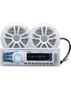 Boss Audio Marine Audio System,  White - Boss MCK1308WB.6