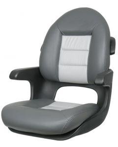 Tempress Elite High Back Boat Helm Seat, Charcoal-Gray