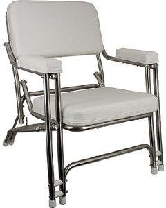 Springfield Classic Folding Deck Chair, Stainless Steel