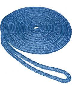 "Seasense 3/8""x15' Double Braid Nylon Dock Line, Blue, 10"" Eye Splice"