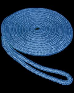 "Seasense 3/8""x20' Double Braid Nylon Dock Line, Blue, 10"" Eye Splice"