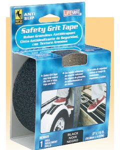 "Incom 2"" X 15' Black Anti-Slip Safety Grit Tape, Packaged"