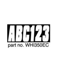 Hardline Series 350ec Boat Decal Letter/Number Set, White