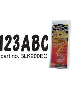 Hardline Series 200ec Boat Decal Letter/Number Set, Black
