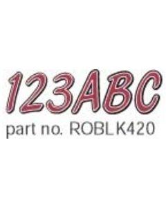 Hardline Series 420 Boat Decal Letter/Number Set, Red/Black