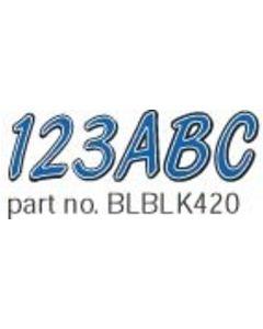 Hardline Series 420 Boat Decal Letter/Number Set, Blue/Black