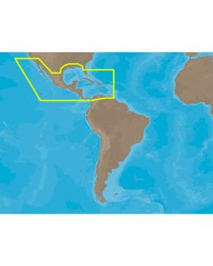 C-Map MAX Central America & The Caribbean C-Card Electronic Charts
