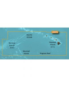 Garmin VUS027R BlueChart g2 Vision West Coast Hawaii Hawaiian Is. Mariana Is. SD Card Nautical Charts