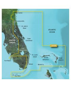 Garmin VUS009R BlueChart g2 Vision Florida Gulf States Jacksonville to Key West SD Card Nautical Charts