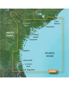 Garmin VUS008R BlueChart g2 Vision East Coast Charleston to Jacksonville SD Card Nautical Charts