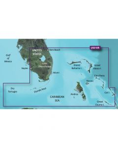 Garmin VUS010R BlueChart g2 Vision Florida Gulf States SouthEast Florida SD Card Nautical Charts