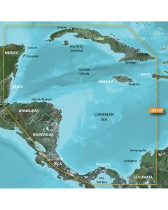 Garmin VUS031R BlueChart g2 Vision Caribbean Southwest Caribbean SD Card Nautical Charts