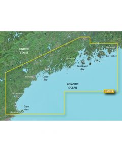 Garmin VUS002R BlueChart g2 Vision East Coast South Maine SD Card Nautical Charts