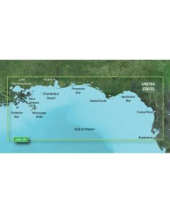 Garmin VUS012R BlueChart g2 Vision Florida Gulf States Tampa to New Orleans SD Card Nautical Charts