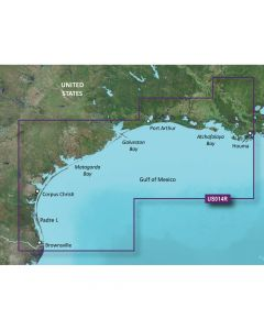 Garmin VUS014R BlueChart g2 Vision Florida Gulf States Morgan City to Brownsville SD Card Nautical Charts