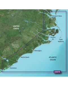 Garmin VUS007R BlueChart g2 Vision East Coast Norfolk-Charleston SD Card Nautical Charts
