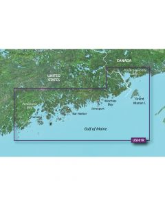 Garmin VUS001R BlueChart g2 Vision East Coast North Maine SD Card Nautical Charts