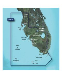 Garmin VUS011R BlueChart g2 Vision Florida Gulf States SouthWest Florida SD Card Nautical Charts