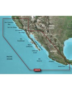 Garmin VUS021R BlueChart g2 Vision West Coast Hawaii California-Mexico SD Card Nautical Charts