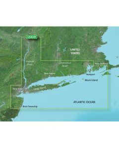 Garmin VUS004R BlueChart g2 Vision East Coast New York SD Card Nautical Charts