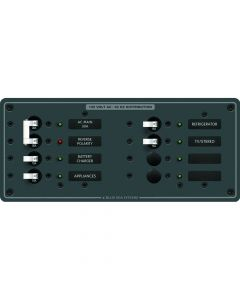 Blue Sea Systems 8412 Breaker Panel 120VAC 8 Position