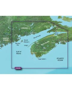 Garmin VCA004R Bay of Fundy SD Card Nautical Charts