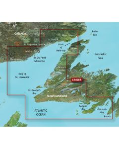 Garmin VCA008R Newfoundland West SD Card Nautical Charts